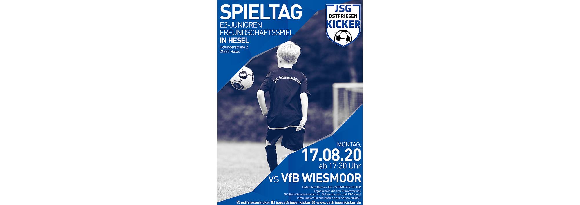 Freundschaftsspiel der E2-Jugend am 17.08 um 17:30 Uhr